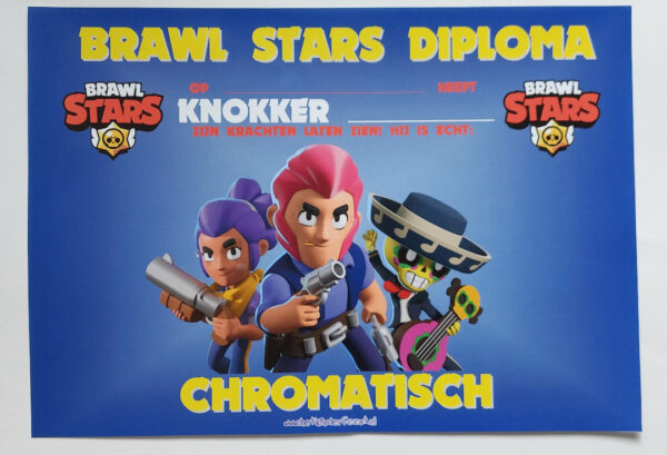 Standaard Brawl Stars Diploma voor jongens