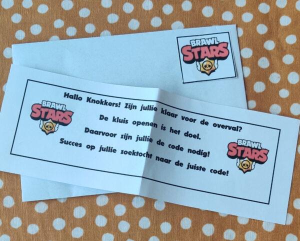 Brawl Stars Escape Room opdrachtkaart