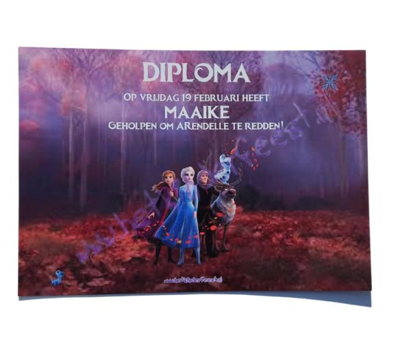 Frozen 2 diploma met naam